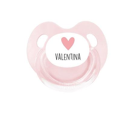 Chupete Personalizado Retro Rosa Corazón