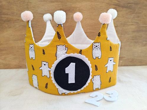 Corona de Cumpleaños Osos - RAINBOW BABY