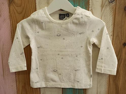 Camiseta Blanca Planetas - 6 meses - BABY FACE