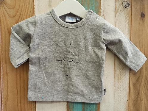 Camiseta Gris Nice To Meet You - 1 mes - FEETJE