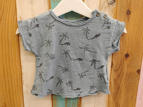 Camiseta Gris Palmeras - PLAY UP