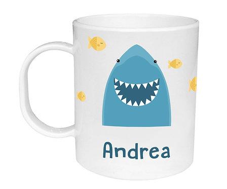 Taza de Plástico Personalizada Tiburón