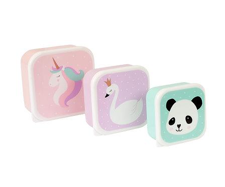 Pack 3 cajas Almuerzo Unicornio y Amigos