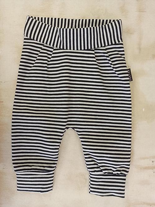 Pantalón Rayas Bolsillo Negro - 0 meses - FEETJE