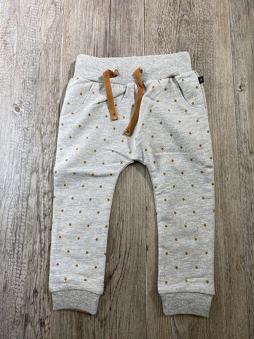 Pantalón Gris Estrellas Marrones - 12 meses - FEETJE