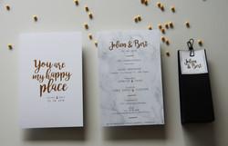 Huwelijksuitnodiging J&B