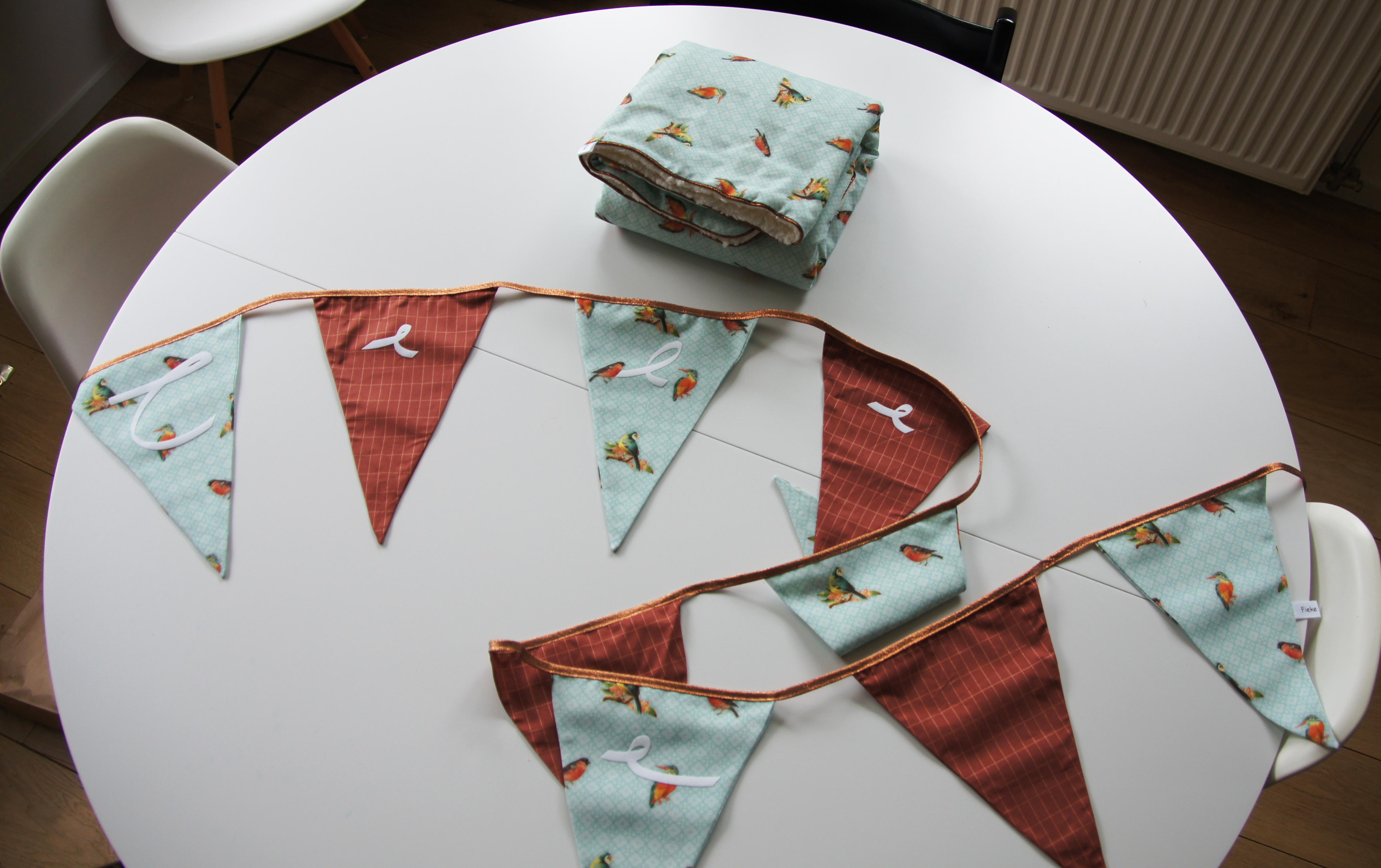 Dekentje en vlaggenlijn Celeste