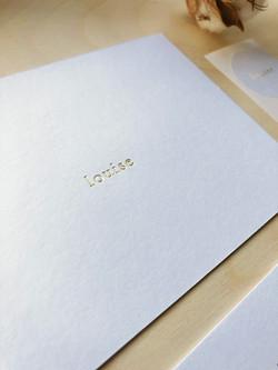 louise letterpress cliché