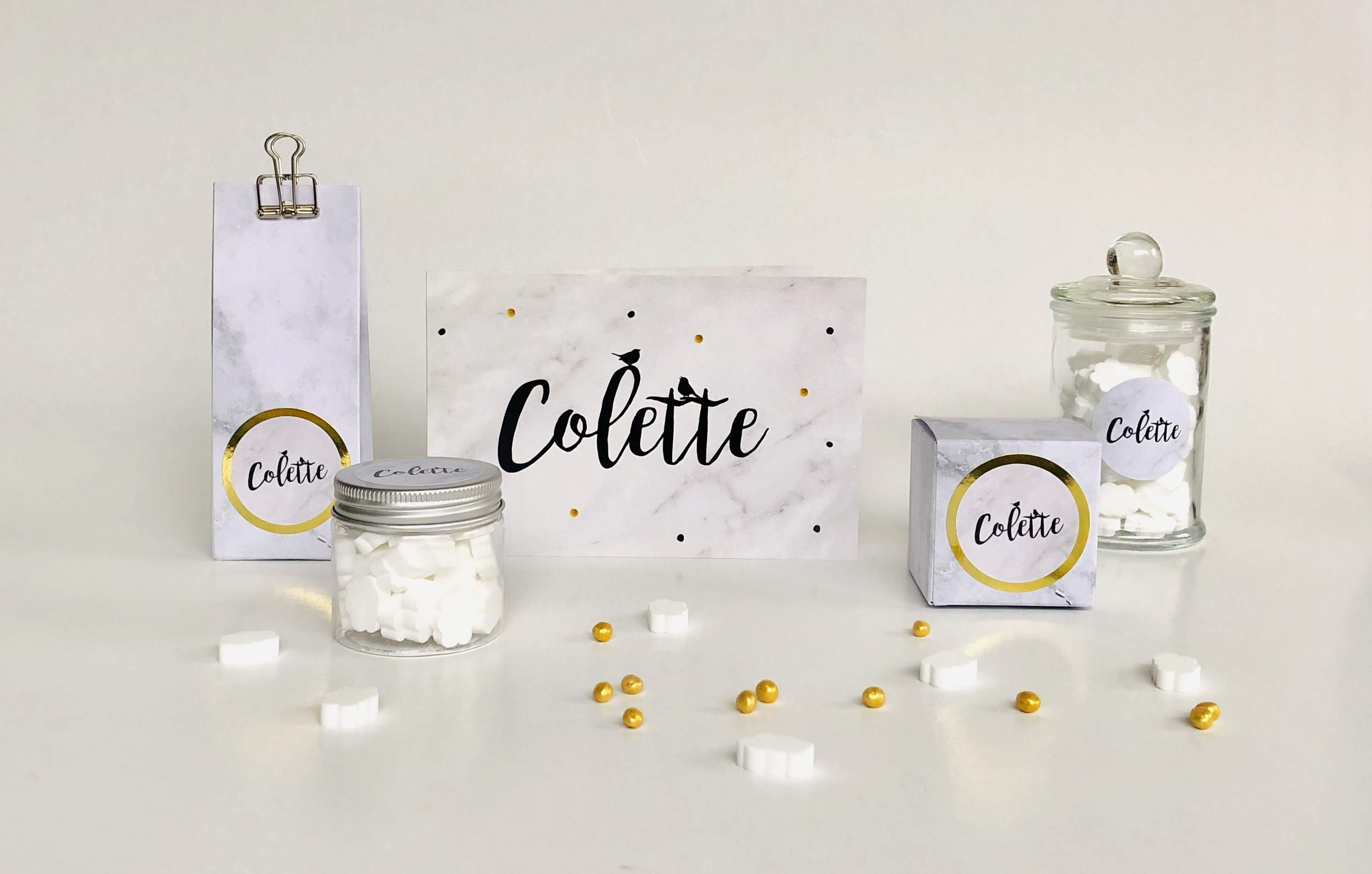 Doopsuiker Colette marmer
