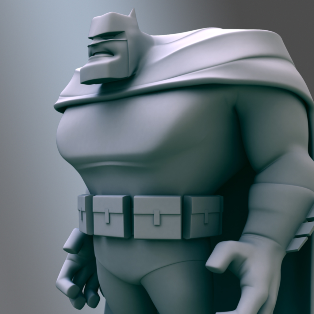Dark Knight Batman 3D model. Maya