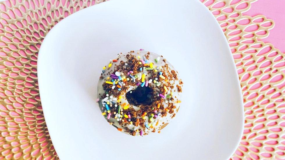 Cookies n' Cream Birthday Cake Donuts