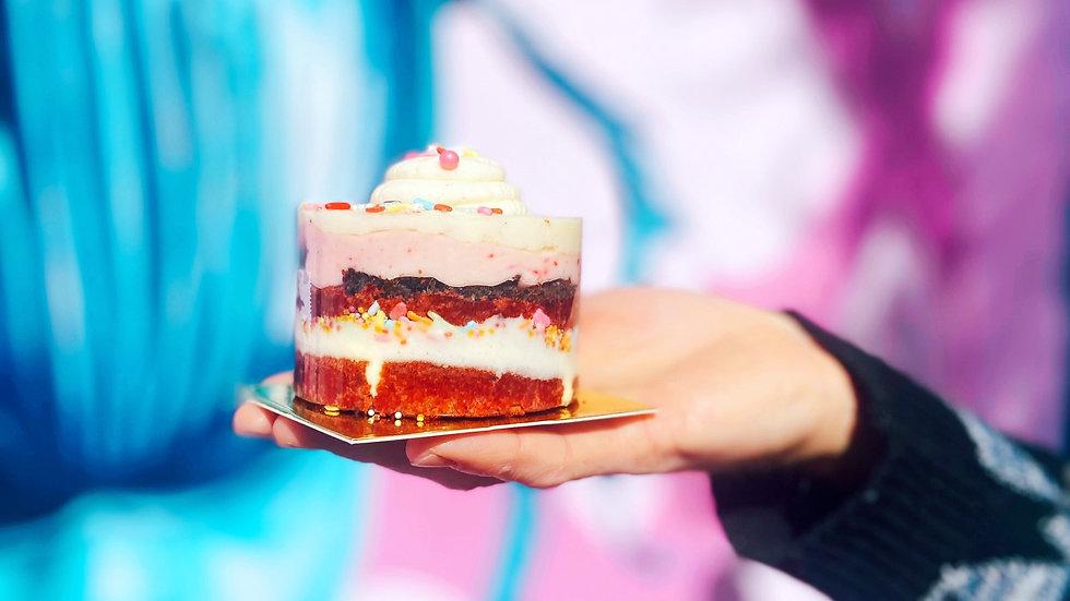 Red Velvet Birthday Cake Shortstack