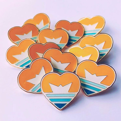 Heartship Enamel Pin