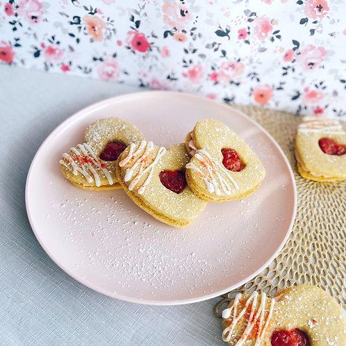 Strawberry Linzer Grandwiches