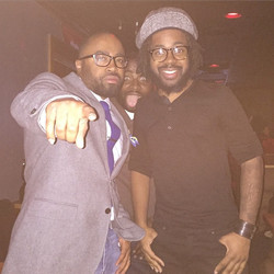 Instagram - Me and the homie @chriswileythepoet and photobombed by my people @jr