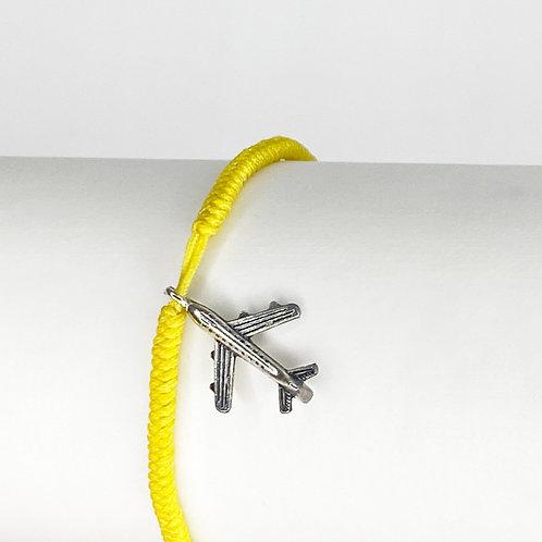 Makramee Armband gelb