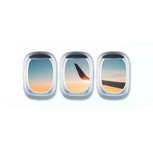 Aufkleber Flugzeugfenster