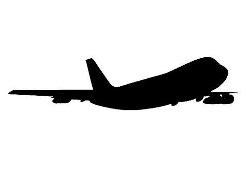 Autoaufkleber Boeing 747