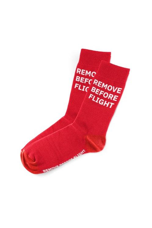 """Socken """"Remove before Flight"""""""