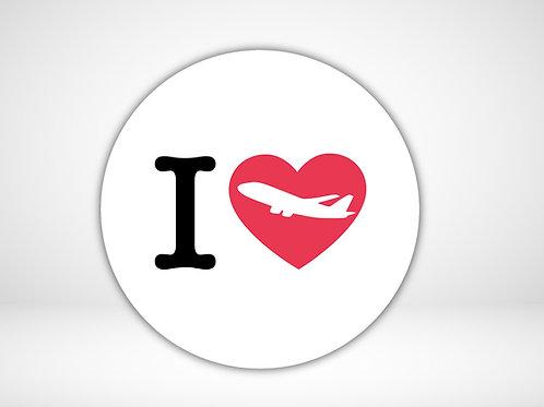 I Love Flying Aufkleber