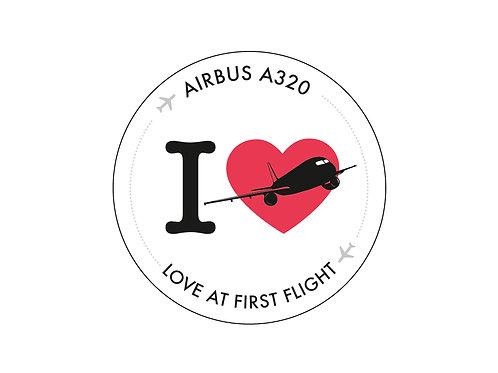 Aufkleber Airbus A320