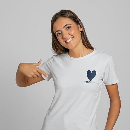 """CabinCrew heart"" T-shirt woman"