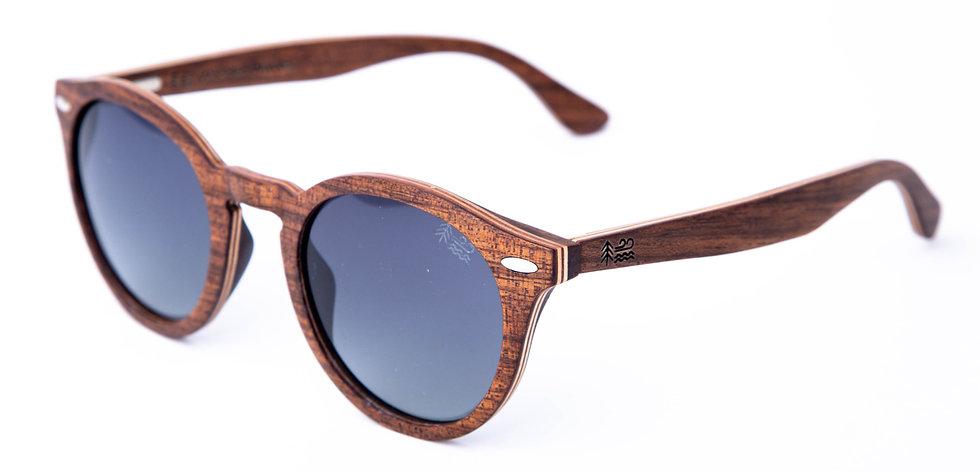 Koa Wood Cat-Eye Wooden Sunglasses Left