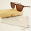 Sustainable Walnut Burl Square Wooden Sunglasses Polarised Lenses with Bamboo Case
