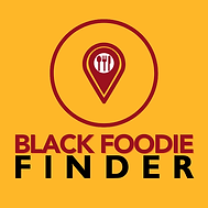 Black Foodie Finder App Icon (no transpa
