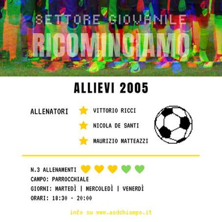 RICOMINCIAMO: Allievi 2005