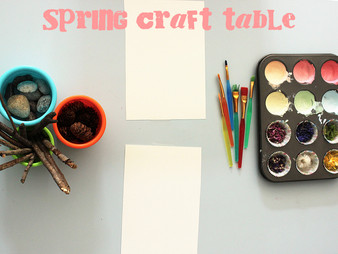 Spring Craft Table