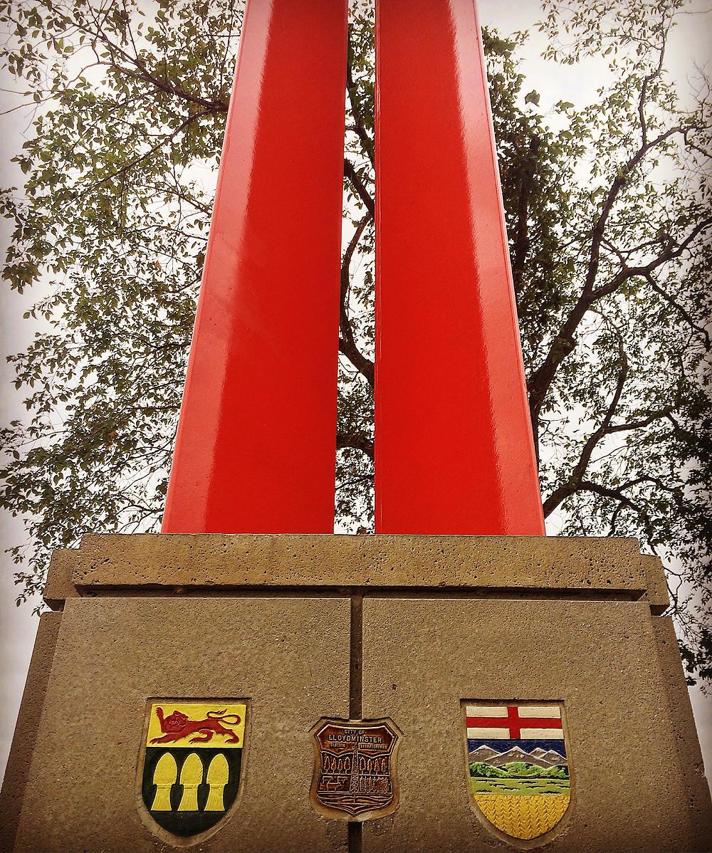 The boarder of Alberta and Saskatchewan in Lloydminster