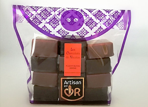 12 Guimauves enrobées de chocolat
