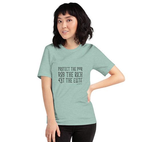 Poor, Rich, Elite Crew Neck T-Shirt
