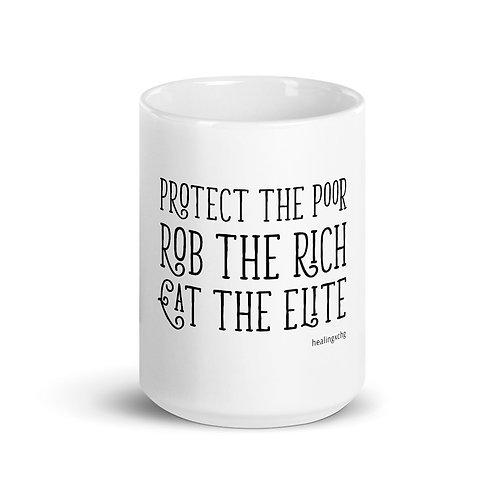 Poor, Rich, Elite Mug