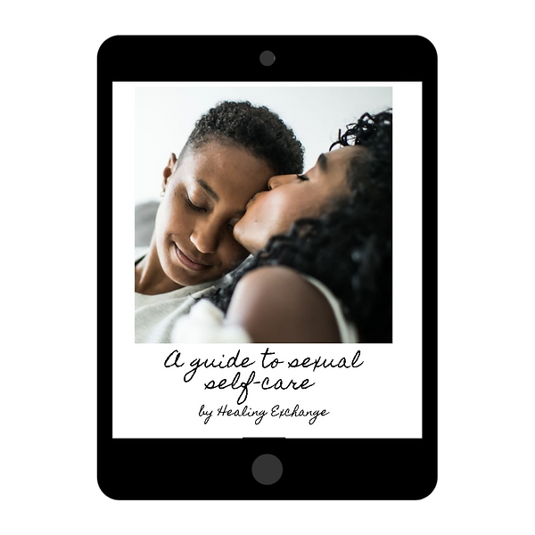 Black queer couple being intimate