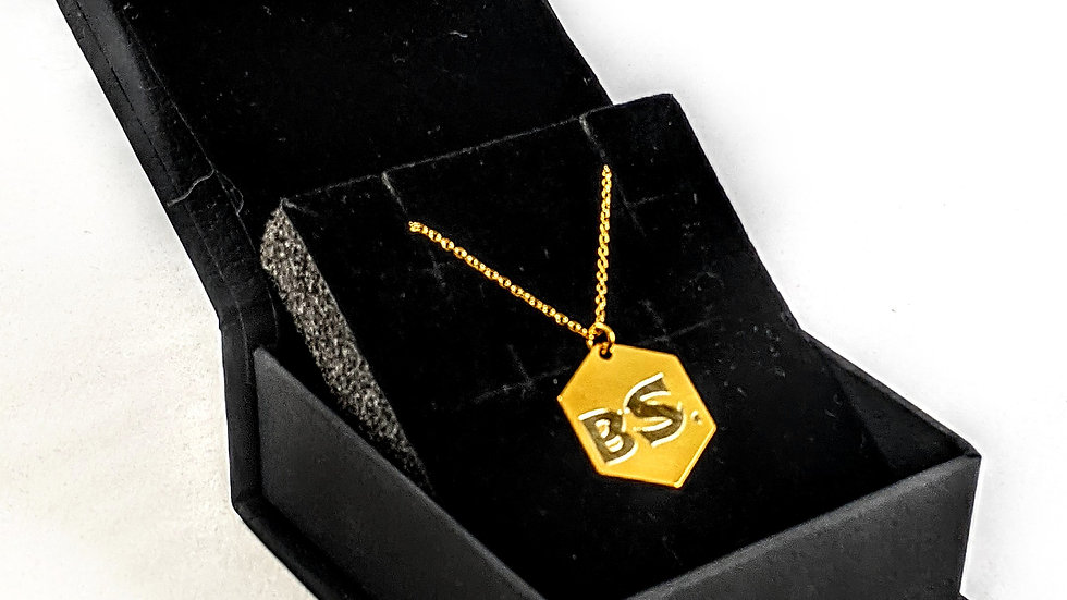 BS 24 Gold Plated Hexagon Necklace