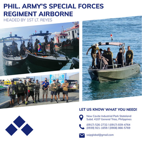 Scout Boat Sea Trials Let by the Philippine Army