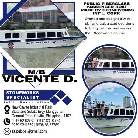 M/B Vicente D. at your service! Public transportation on the Pasig River by Stoneworks Specialist!