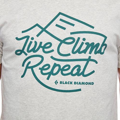 Black Diamond Live Climb Repeat Mens Tee