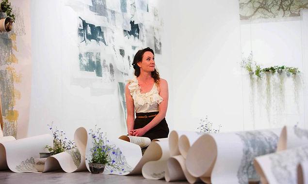 Sarah Roseingrave at the CIT Degree Exhibition