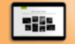 Picture of Microsoft Metro design toolkit home screen on tablet