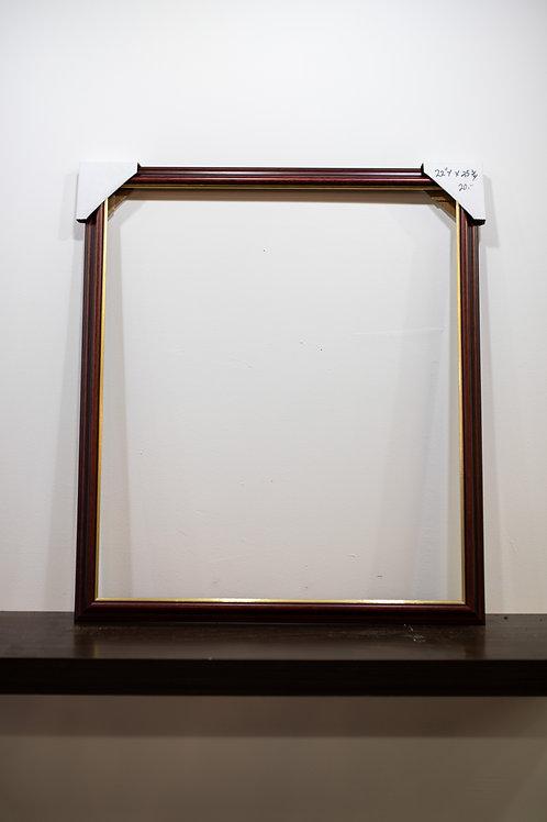 """Thin Dark Red Frame 22.25"""" x 25.75"""""""