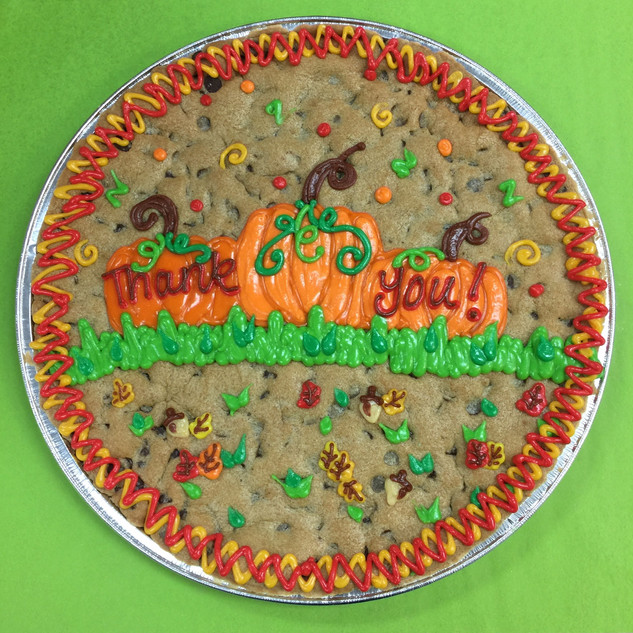 Fall Scene Cookie Cake