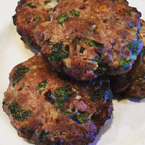 Turkey Burgers with Spinach + Sweet Potato
