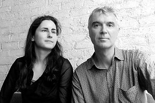 Photograph of Danielle Spencer and David Byrne