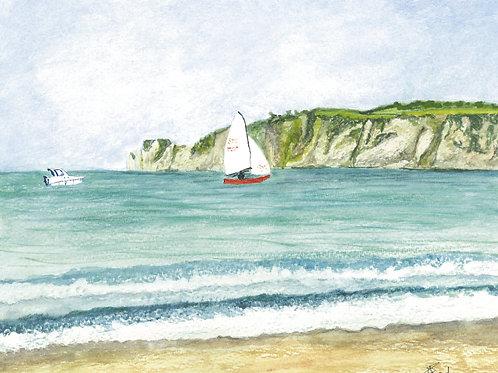 Sailing Studland Bay