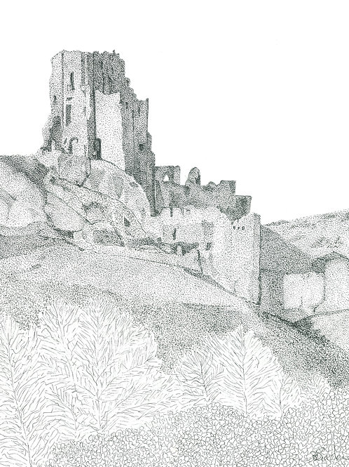 Corfe Castle Pointillism