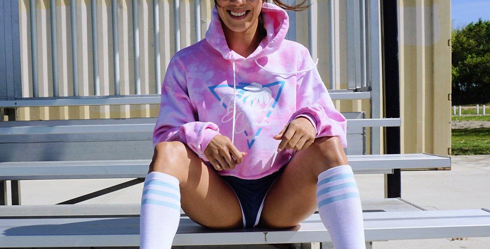 Beach Club Pink Tie dye Hoodie