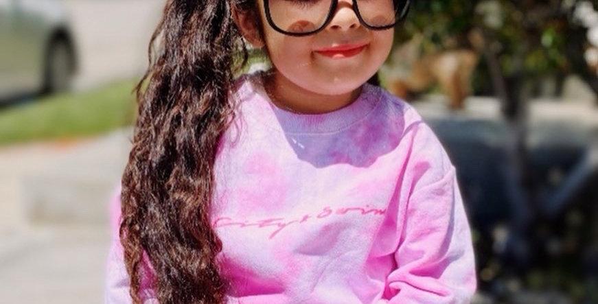 Pink clouds Tye dye Sweater kids/adults